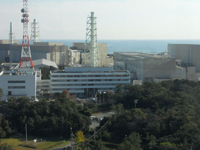 展望塔から見た浜岡原子力発電所